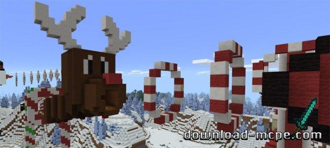 Новогодняя карта для minecraft пе