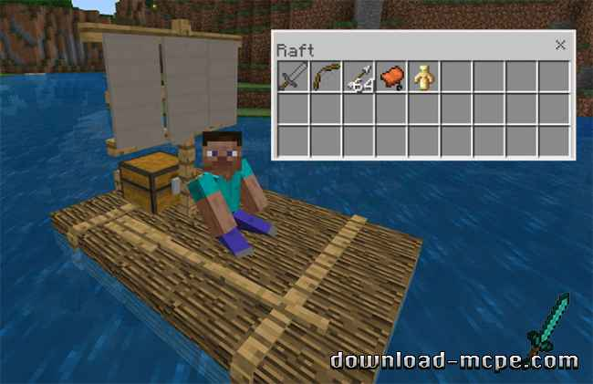 Мод Chested Sail Raft 1.4.4+