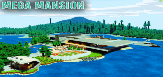 Карта SG Massive Modern Mansion Island House (Выживание)