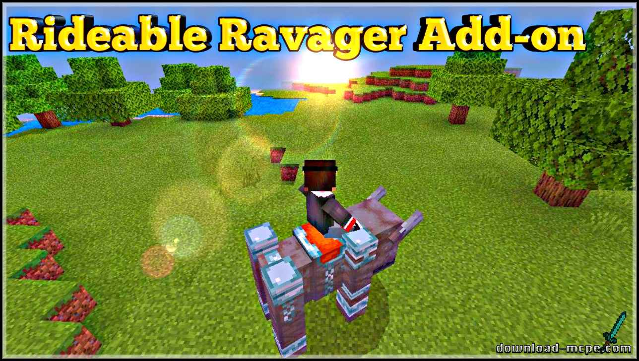Мод Rideable Ravager 1.11
